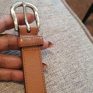 Blue/brown coach belt.